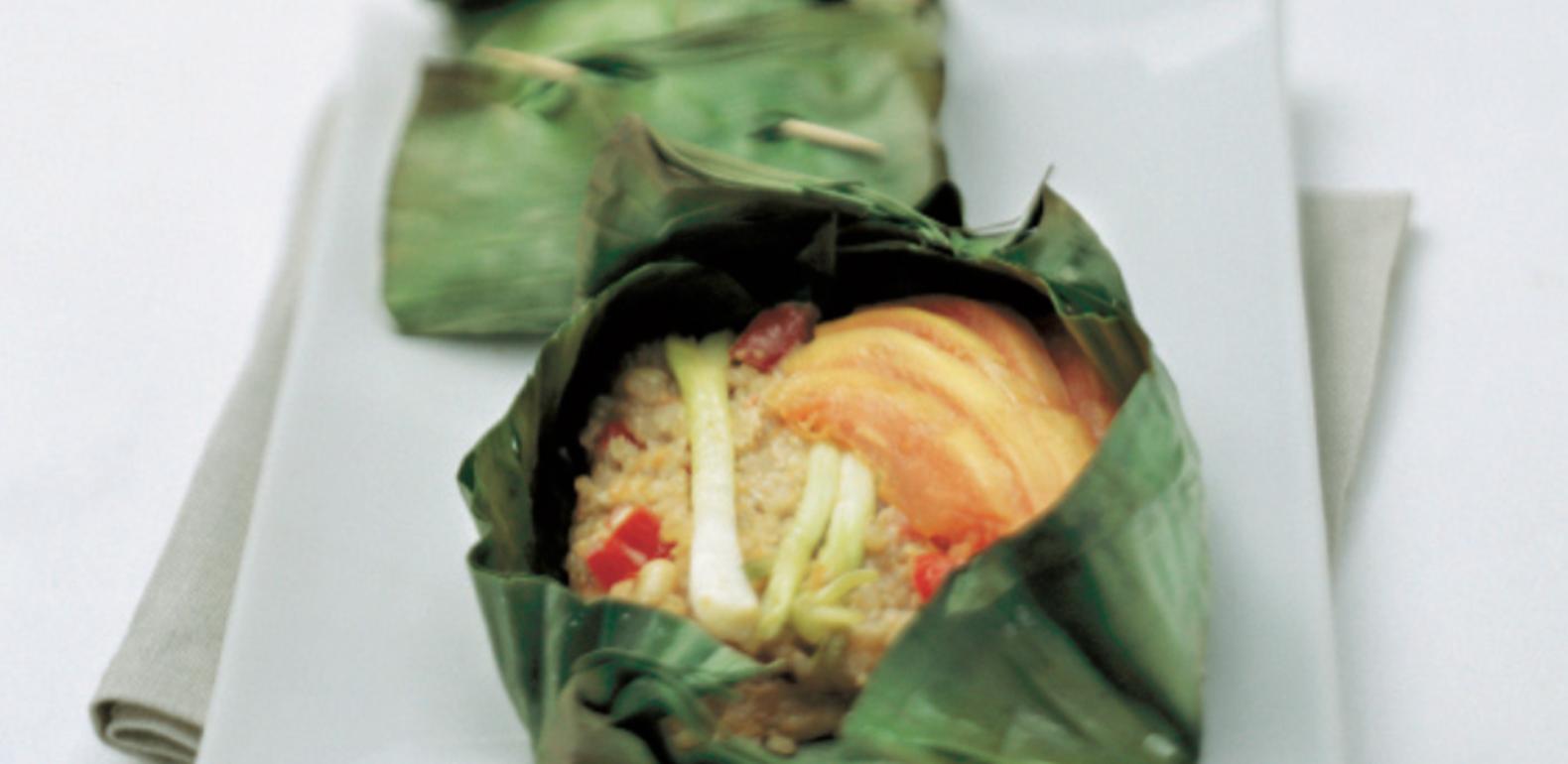 riz exotique en feuilles de bananier - a.vogel