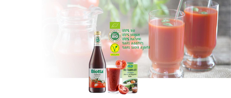 Jus de tomates BIO et Herbamare